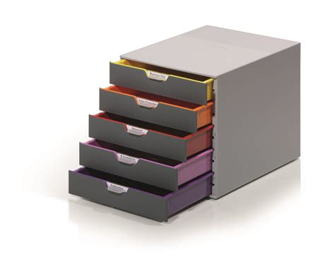 desktop plastic drawers durable varicolor plastic desktop drawer set stackable 5