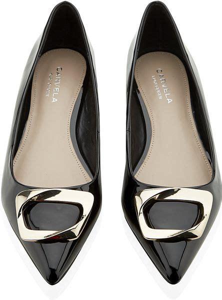 kurt geiger flat shoes carvela kurt geiger lassie flat shoes in black lyst