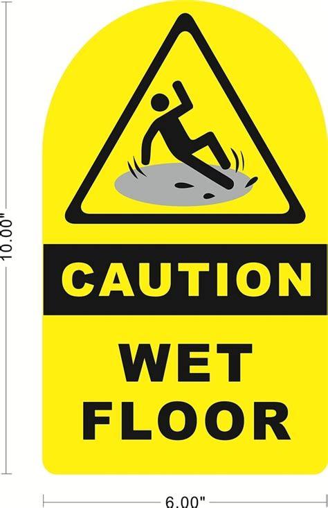 Caution Wet Floor Safety Sign Vinyl Sticker Store  Ebay