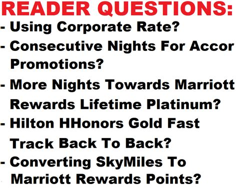 reader questions using corporate rate not entitled to consecutive nights for accor promotions