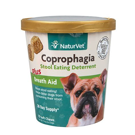 coprophagia plus breath aid soft chew by naturvet