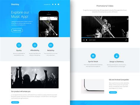 Freebie Psd Sketch Destiny Responsive Html Email Newsletter By Rocketway Dribbble Sle Html Email Template