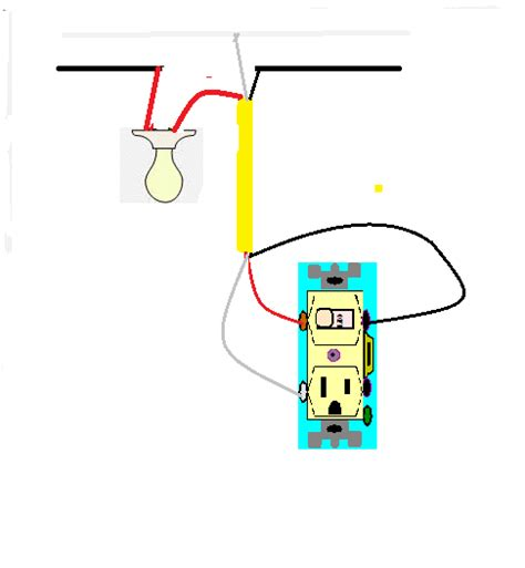 only two wires switch outlet combo wiring diagram wiring