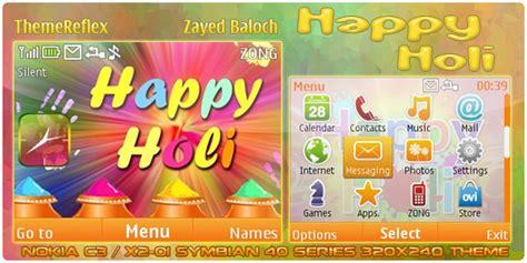 god themes x2 happy holi theme for nokia c3 x2 01 themereflex