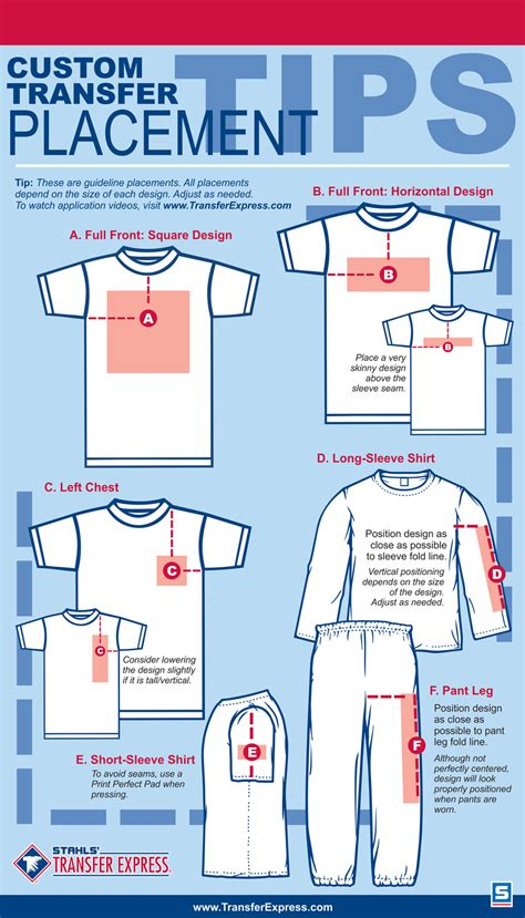 t shirt layout size tips for design image placement when customizing apparel