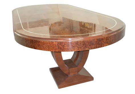 art deco dining room table art deco dining table in ruhlmann style transitional