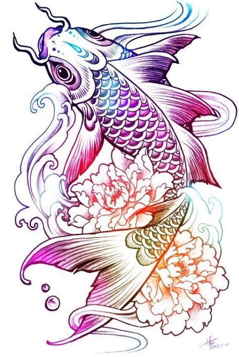 exclusive tattoo style ideas koi fish tattoo for men and