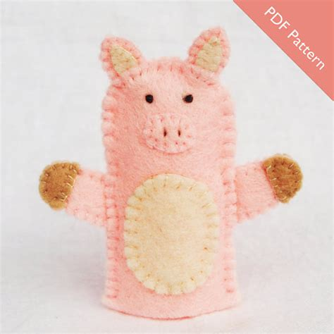 pattern for felt pig pattern pig pig felt puppet finger puppet pattern