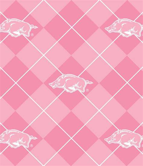 Arkansas Razorback Home Decor by Foust Textiles Inc Fabrics Pink Arkansas Razorbacks Argyle
