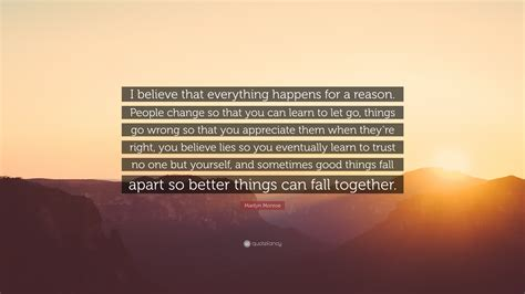 everything happens for a reason and other lies i ve loved books marilyn quote i believe that everything happens
