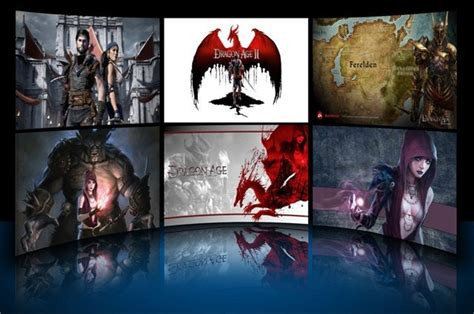 themes games for windows 7 dragon age theme for windows 7 game themes