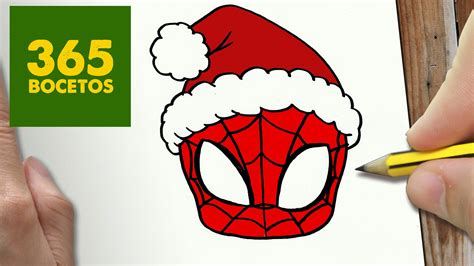 imagenes de spiderman para dibujar faciles como dibujar spiderman para navidad paso a paso dibujos