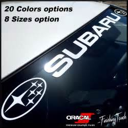 Subaru Emblem Vinyl Subaru Windshield Sticker Banner Decal Vinyl Rally Window
