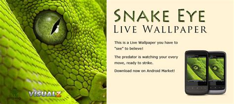 eye live snake eye live wallpaper