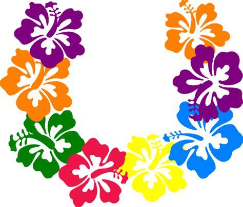 printable lei flowers hibiscus lei clip art at clker com vector clip art