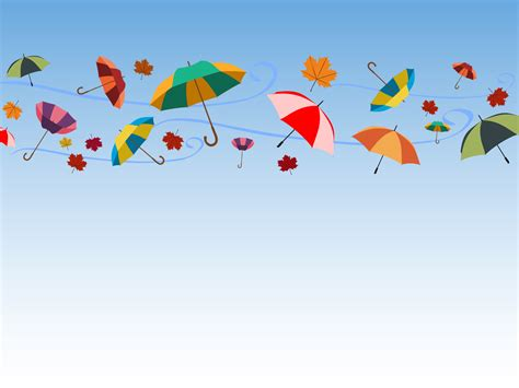 holidays and celebrations umbrellas and celebrations ppt backgrounds blue green
