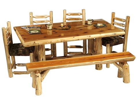 log dining room tables rustic cedar log dining table drt01 timbercreek dining