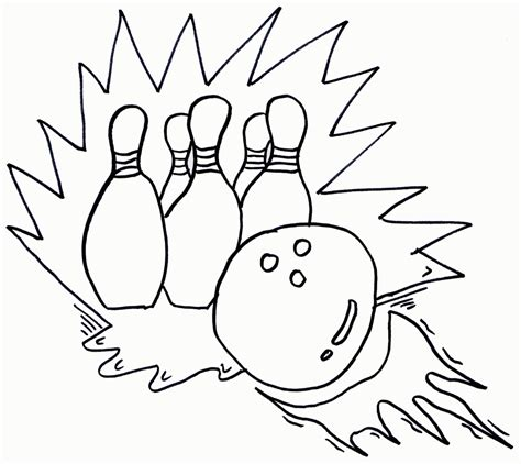 pin coloring pages bowling pins free printable page