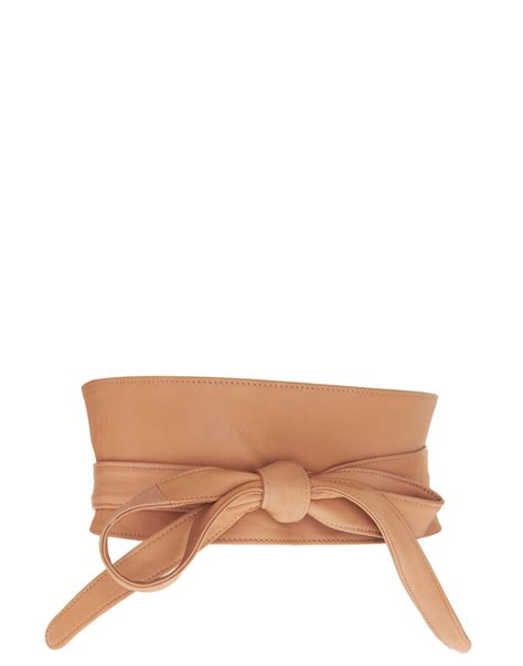 Obi Style Sash Belt At Asos by Lyst Asos Leather Obi Waist Belt In Brown