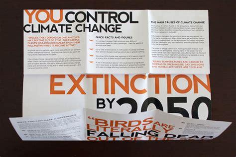 18 Beautiful Exles Of Phlet Leaflet Designs Climate Change Brochure Template