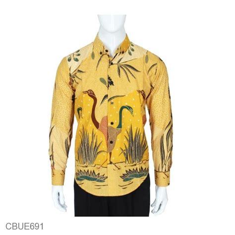 Batik Bangau Tulis kemeja batik slim fit motif taman bangau kemeja lengan