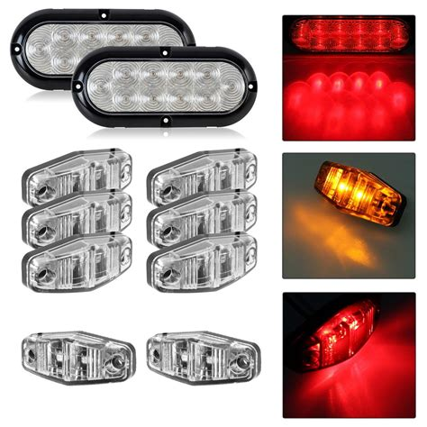 car trailer led light kit trailer led light kit clear lens stop turn