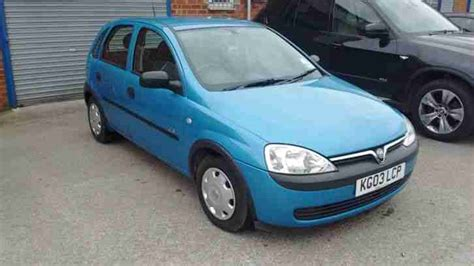 vauxhall blue 2003 vauxhall corsa gls 16v blue car for sale