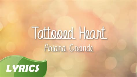 tattooed heart spanish lyrics ariana grande tattooed heart studio version lyrics