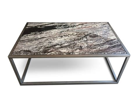 modernist granite top cocktail table in the style of tommy contemporary granite top coffee table kb furnishings