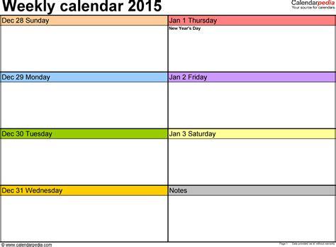 Weekly Calendar Template Word   printable 2017 calendars