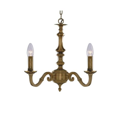 Candle Pendant Lighting 3 Light Solid Antique Brass Ceiling Pendant Light Candle Style