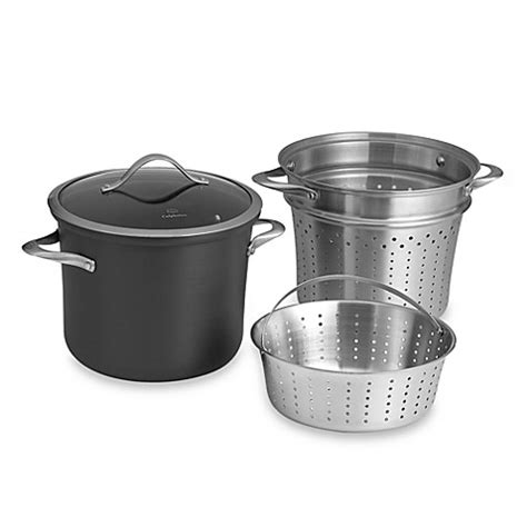 steamer bed bath and beyond calphalon 174 contemporary nonstick 8 qt multi pot with