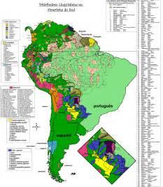 south america mapa 252 237 stico linguistic map