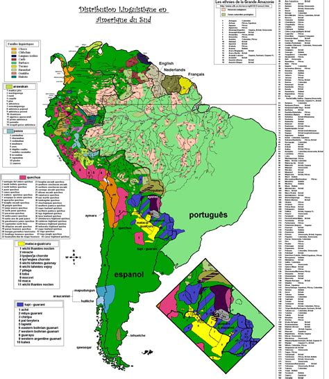 south america map by language south america mapa 252 237 stico linguistic map