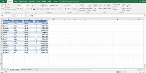 format date range in excel what is the difference between a table and a range in excel