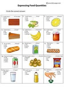 1951 free esl food worksheets food quantities worksheets study