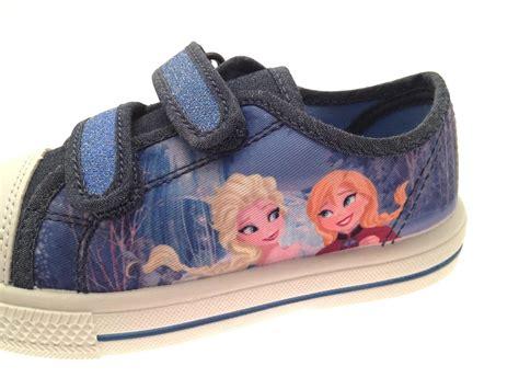 Sandal Denim Carakter frozen elsa plimsolls skate pumps trainers character shoes size ebay