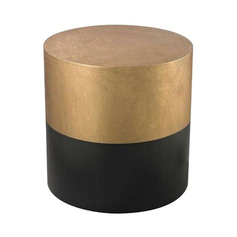 and black table ls ls dimond home black and gold draper drum table in black