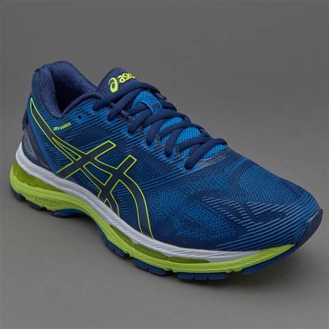 Sepatu Lari Asic sepatu lari asics gel nimbus 19 indigo blue safety yellow