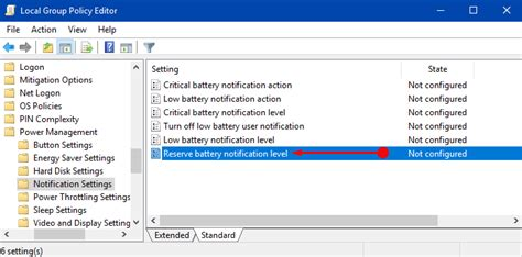 how to reserve your windows how to change reserve battery level in windows 10