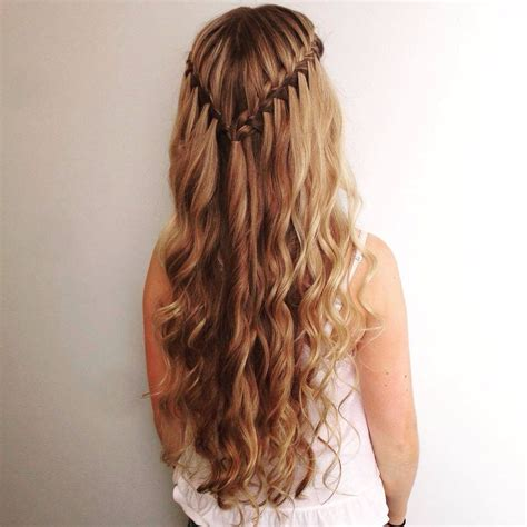 homecoming hairstyles waterfall braid hairstyle pinterest hair extensions