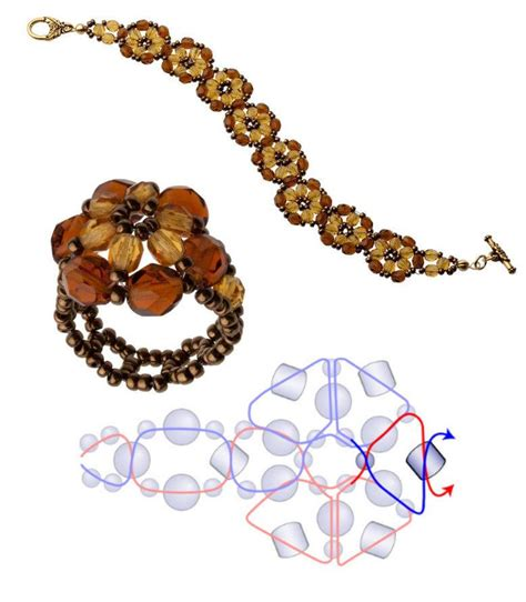 beaded flower bracelet patterns free pattern topaz beaded flower featured in bead
