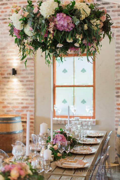 garden styled wedding garden style hanging flowers
