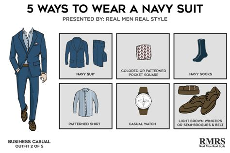 5 one navy suit killer looks from classic menswear creative suit style business casual