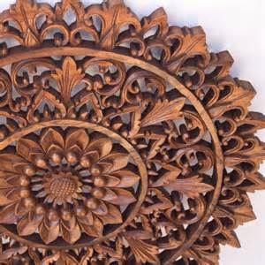 Indonesia Home Decor abastract decoration wood panel round bali indonesia home decor jpg