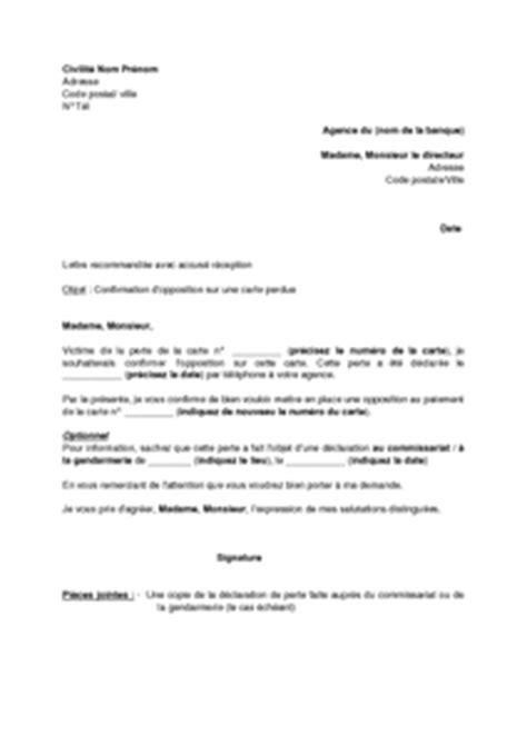 Confirmation De Stage Lettre Modele Lettre D Opposition Banque