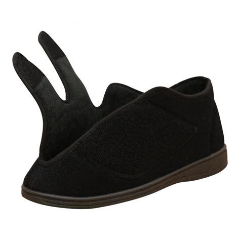 mens slipper boots dr lightfoot mens memory foam velcro washable slipper