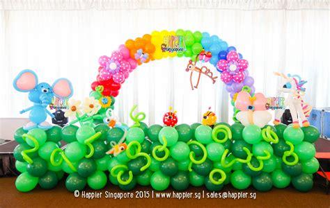 stage balloon decoration happier singapore