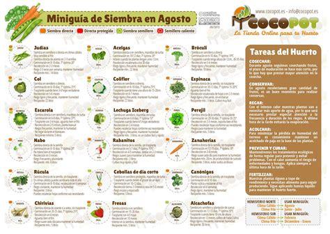 calendario del huerto urbano en setiembre calendarios pinterest minigu 237 a de siembra para huerto urbano en noviembre