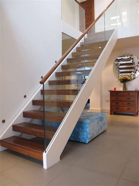 Open tread staircase modern with stair lighting open tread stair open tread staircase